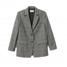 everlane womens wool oversized blazer glenplaid