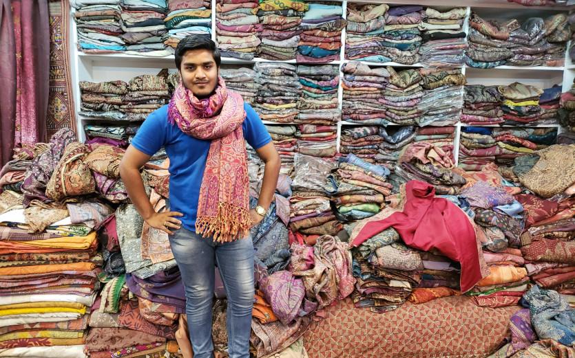 inside maharani textiles and handicrafts