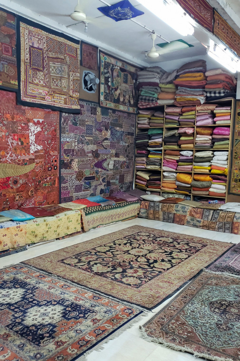 inside maharani textiles and handicrafts