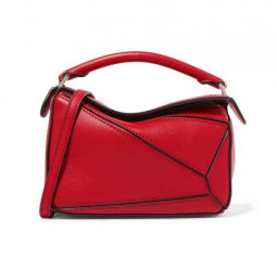 Mini Textured Leather Shoulder Bag by Loewe