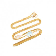 objet a 18k gold morganite and aquamarine necklace