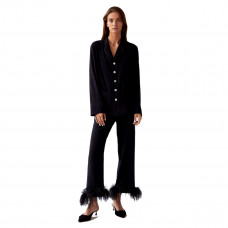 sleeper black tie pajama set