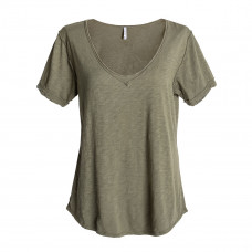 z supply the cotton slub v neck tee
