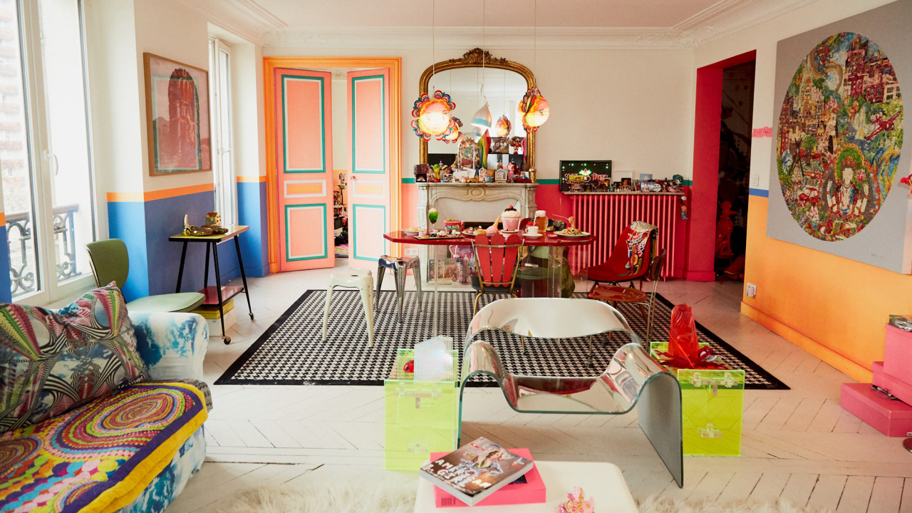 Inside Manish Arora's Colorful Parisian Apartment