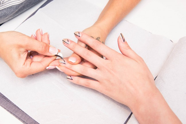 different nail treatments at the salon