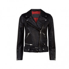 allsaints leather estae biker jacket black