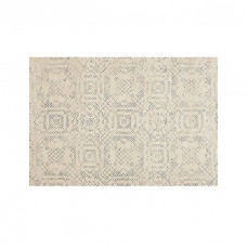 crate barrel azulejo neutral moroccan style rug