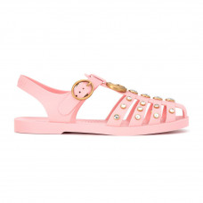 gucci crystal embellished jelly sandals