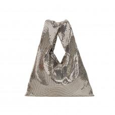 kara silver mesh shopper
