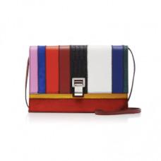 proenza schouler r19 patchwork effect leather shoulder bag