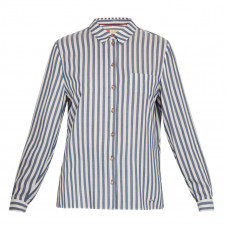 ted baker norona open collar striped shirt
