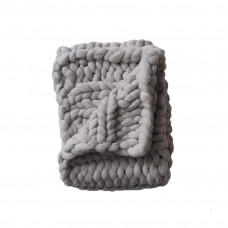 nublado chunky throw grey