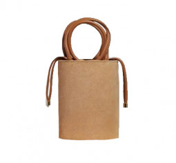 Kyklos Bag in Camel Suede by Folklore