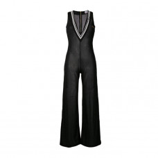 gcds lame sheer jumpsuit