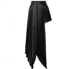 Asymmetric Plisse Satin-Crepe Wrap Mini Skirt by Peter Do