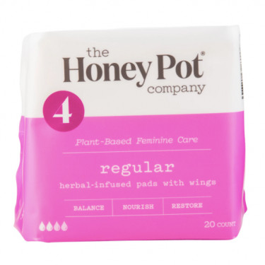 the honey pot regular herbal menstrual pads