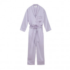 yuma lilac tech satin jumpsuit