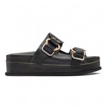 black freida double buckle platform sandal