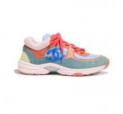 Nylon, Lambskin & Suede Calfskin Sneaker by CHANEL