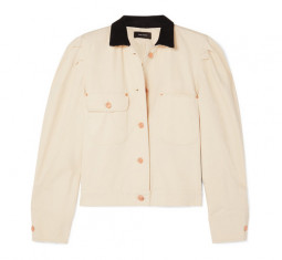 Lolana Corduroy-Trimmed Denim Jacket by Isabel Marant