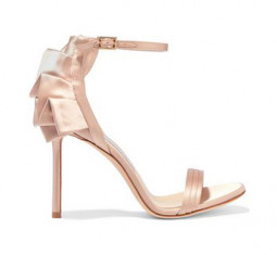 Kerry 100 Ruffled Satin Sandals by Jimmy Choo