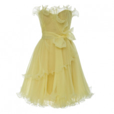 marchesa strapless bustier organza mini dress