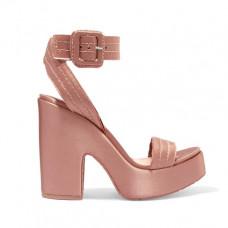 pedro garcia thora frayed satin platform sandals