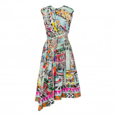 prada printed poplin dress