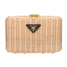 prada wicker clutch