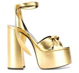 Paige Platform Sandals by Saint Laurent