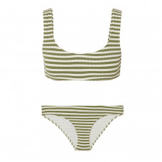 solid and striped the elle striped ribbed stretch bikini top