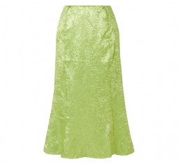 Grace Crinkled Satin Midi Skirt by The Line by K Grace