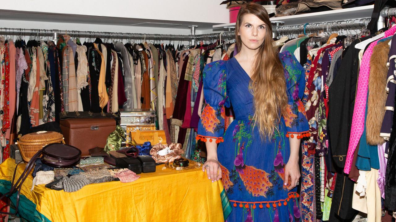 Inside a Fashion Historian's Vintage-Filled Closet