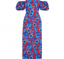 Adelita Off-the-Shoulder Floral-Print Cotton-Poplin Dress by Borgo de Nor
