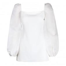 geraldine lustgarten organza puff sleeve dress