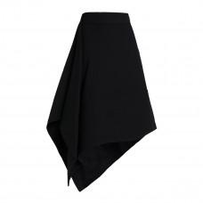 marni asymmetric wool crepe skirt