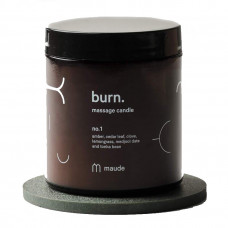 maude burn massage candle
