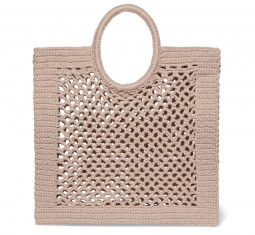Sunbath Crocheted Cotton-Blend Tote by Mizele