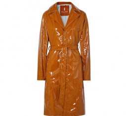 Glossed PU Trench Coat by Rains