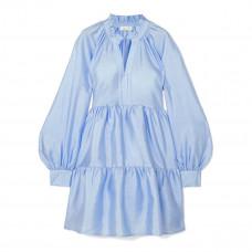 stine goya jasmine crinkled taffeta mini dress