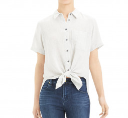Hekanina Tie-Front Shirt by Theory