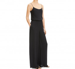 Wide-Leg Silk Jumpsuit by Theory