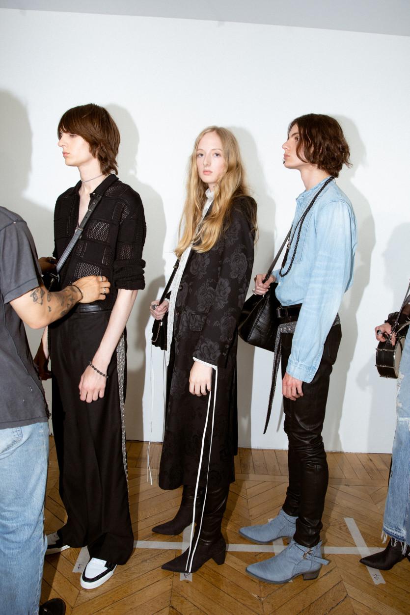 backstage at amiri spring 2020 fashion show