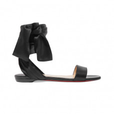 christian louboutin leather and satin sandles