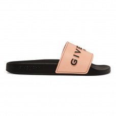 givenchy logo print rubber slides