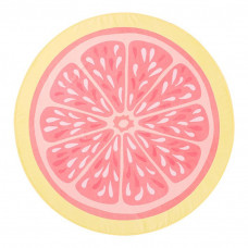 pbteen pink lemonade round beach towel