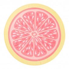 pbteen pink lemonade round beach towel