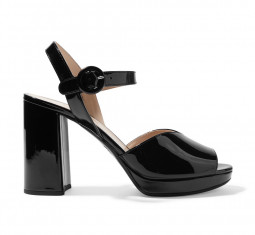 95 Patent-Leather Platform Sandals by Prada