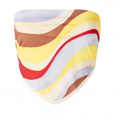 solid and striped bianca printed bandeau bikini top