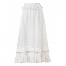 waimari nostalgia pleated linen maxi skirt